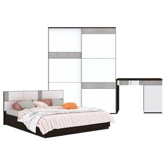 ชุดห้องนอน ขนาด 6 ฟุต รุ่น Palazzo สีเงิน-00