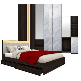 ชุดห้องนอน ขนาด 6 ฟุต รุ่น Reiss สีเทาอ่อน-00