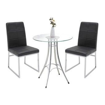 โต๊ะทานอาหาร รุ่น Ieffel สีสีเงิน-SB Design Square