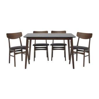โต๊ะทานอาหาร รุ่น Morsen สีสีลายไม้ธรรมชาติ-SB Design Square