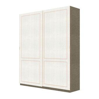 Wardrobe Prime ตู้เสื้อผ้าบานเลื่อน รุ่น Wardrobe Prime สีสีขาว-SB Design Square
