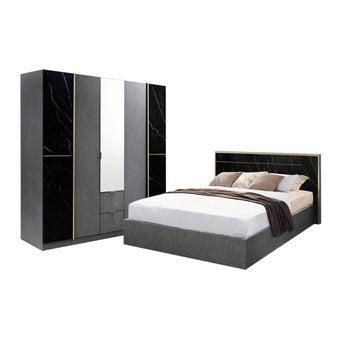 ชุดห้องนอน ขนาด 5 ฟุต รุ่น Marseille ตู้บานเปิด 200 ซม.