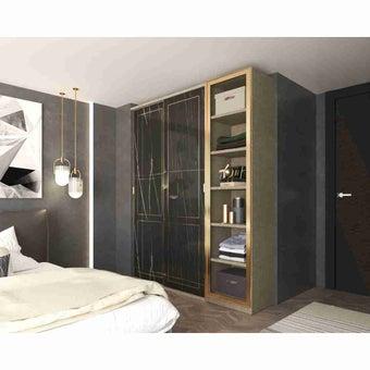 Wardrobe Prime ซีรีย์ตู้เสื้อผ้าบานเลื่อนและบานเปิด รุ่น Wardrobe Prime สีสีดำ-SB Design Square