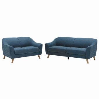 โซฟาผ้า โซฟา 3 ที่นั่ง รุ่น Cambell สีสีฟ้า-SB Design Square