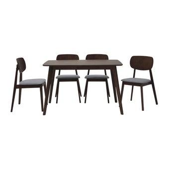 โต๊ะทานอาหาร โต๊ะอาหารไม้ล้วน รุ่น Tatoro สีสีลายไม้ธรรมชาติ-SB Design Square