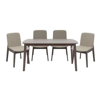 โต๊ะทานอาหาร โต๊ะอาหารไม้ล้วน รุ่น Enland สีสีลายไม้ธรรมชาติ-SB Design Square