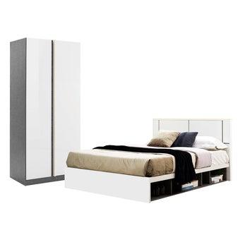 ชุดห้องนอน ขนาด 6 ฟุต รุ่น Element สีขาว01