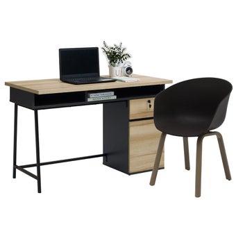 ชุดโต๊ะทำงาน ขนาด 120 ซม. รุ่น Worka สีโอ๊ค01