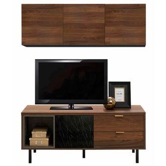 ชุดวางทีวีและตู้โชว์ รุ่น Tavern สีลายไม้ธรรมชาติ-00
