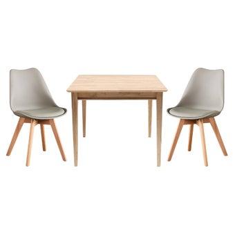 ชุดโต๊ะอาหาร รุ่น Peeler สีเทา01