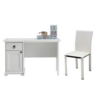 ชุดโต๊ะทำงาน รุ่น Melona & เก้าอี้ Asina-01