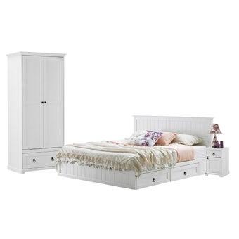 ชุดห้องนอน ขนาด 6 ฟุต รุ่น Melona สีขาว1
