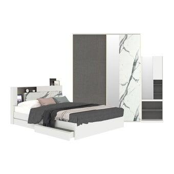 ชุดห้องนอน ขนาด 5 ฟุต รุ่น Spazz สีขาว-00