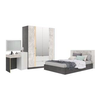ชุดห้องนอน ขนาด 6 ฟุต รุ่น Maribor สีเทา01