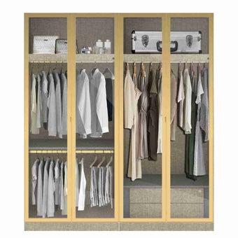 ตู้เสื้อผ้าขนาด 200 ซม. รุ่น Wardrobe Plus