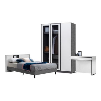 ชุดห้องนอน ขนาด 5 ฟุต รุ่น Paris สีเทา01