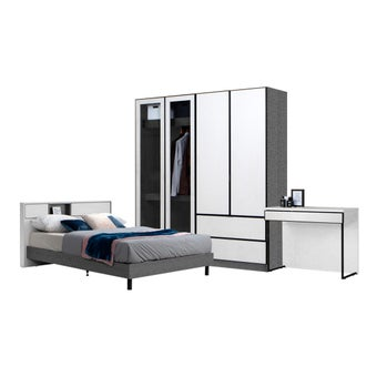 ชุดห้องนอน ขนาด 6 ฟุต รุ่น Paris สีเทา01