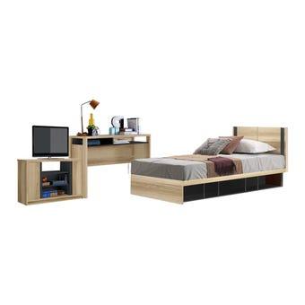 ชุดห้องนอน ชุดห้องนอน รุ่น Patinal สีสีโอ๊ค-SB Design Square