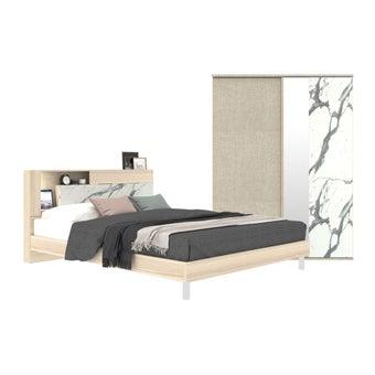 ชุดห้องนอน ชุดห้องนอน รุ่น Spazz สีสีโอ๊คอ่อน-SB Design Square