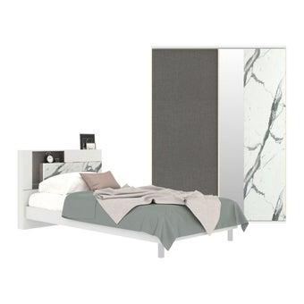 ชุดห้องนอน ขนาด 3.5 ฟุต รุ่น Spazz สีขาว-00