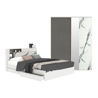 ชุดห้องนอน ขนาด 6 ฟุต รุ่น Spazz สีขาว-00