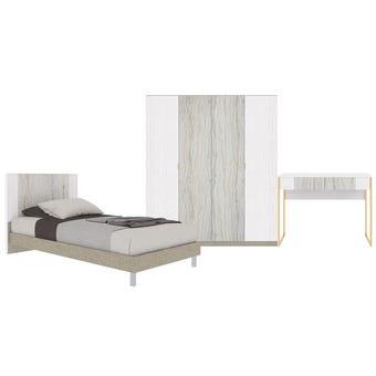 ชุดห้องนอน ขนาด 3.5 ฟุต รุ่น Ezra สีขาว