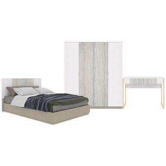 ชุดห้องนอน ขนาด 5 ฟุต รุ่น Ezra สีขาว
