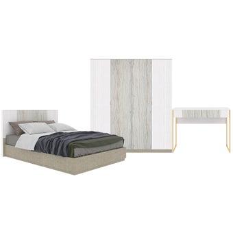 ชุดห้องนอน ขนาด 5 ฟุต รุ่น Ezra สีขาว-01