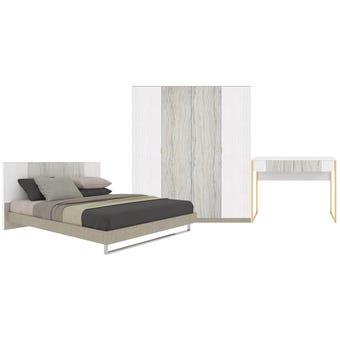 ชุดห้องนอน ขนาด 6 ฟุต รุ่น Ezra สีขาว
