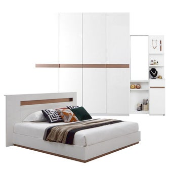 ชุดห้องนอน ขนาด 5 ฟุต รุ่น Luminus สีขาว 02