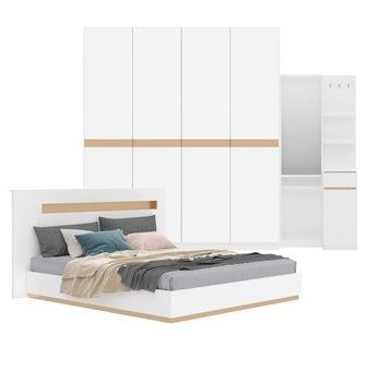 ชุดห้องนอน ขนาด 5 ฟุต รุ่น Luminus สีขาว
