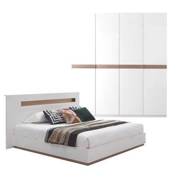 ชุดห้องนอน ขนาด 6 ฟุต รุ่น Luminus สีขาว 02