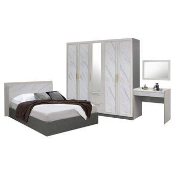 ชุดห้องนอน ขนาด 6 ฟุต รุ่น Florence สีขาว01