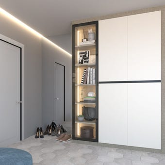 ตู้เสื้อผ้า ขนาด 150 ซม. รุ่น Wardrobe Plus สีขาว