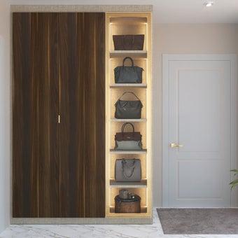 ตู้เสื้อผ้า ขนาด 150 ซม. รุ่น Wardrobe Plus สีลายไม้ธรรมชาติ