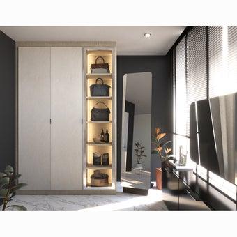 ตู้เสื้อผ้า ขนาด 150 ซม. รุ่น Wardrobe Plus สีเทา