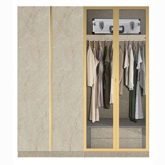 ตู้เสื้อผ้า ขนาด 200 ซม. รุ่น Wardrobe Plus สีครีม-00