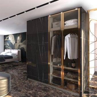 ตู้เสื้อผ้า ขนาด 200 ซม. รุ่น Wardrobe Plus สีดำ-00