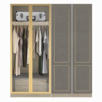 ตู้เสื้อผ้า ขนาด 200 ซม. รุ่น Wardrobe Plus สีเทา-02