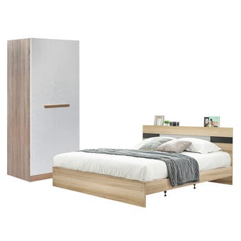 ชุดห้องนอน ขนาด 6 ฟุต รุ่น Harper ตู้บานเปิด 80 ซม.