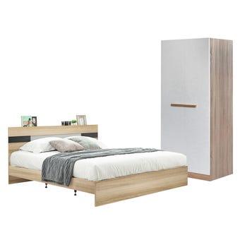 ชุดห้องนอน ขนาด 5 ฟุต รุ่น Harper ตู้บานเปิด 80 ซม.