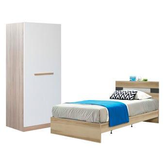 ชุดห้องนอน ขนาด 3.5 ฟุต รุ่น Harper ตู้บานเปิด 80 ซม.