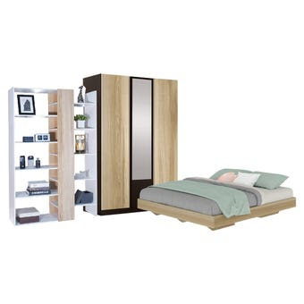 ชุดห้องนอน ขนาด 5 ฟุต รุ่น Blissey ตู้บานเปิด 134 ซม. Free KC-Play