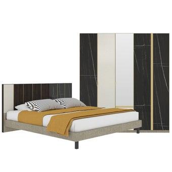 ชุดห้องนอน ขนาด 6 ฟุต รุ่น Aureus สีดำ-01