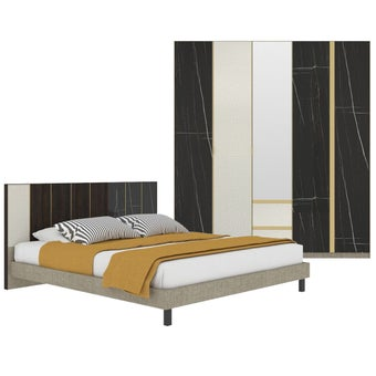 ชุดห้องนอน ขนาด 5 ฟุต รุ่น Aureus สีดำ-01