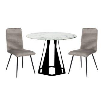 โต๊ะอาหาร รุ่น Hershy-A & เก้าอี้ รุ่น Yobix2