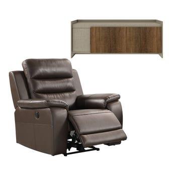 เก้าอี้พักผ่อนไฟฟ้า รุ่น Nasanto & ตู้วางทีวี ขนาด 150 ซม. รุ่น ECONI-X
