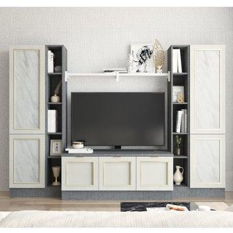 ชุดวางทีวี รุ่น Contini 240 ซม. สีขาว-02
