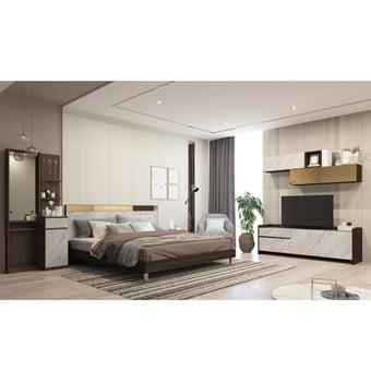 ชุดห้องนอน Reiss + โต๊ะเครื่องแป้ง + ชุดวางทีวี Reiss