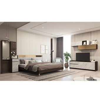 ชุดห้องนอน Reiss + โต๊ะเครื่องแป้ง + ชุดวางทีวี Reiss-01